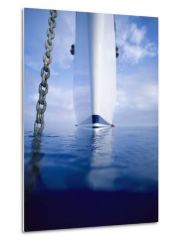 Large Boat Anchored Off Cuba-Onne van der Wal-Metal Print