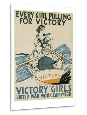 Every Girl Pulling for Victory-Edward Penfield-Metal Print