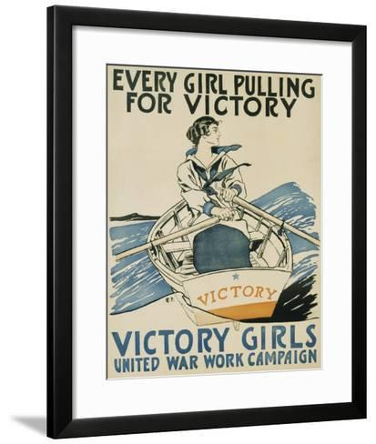 Every Girl Pulling for Victory-Edward Penfield-Framed Art Print
