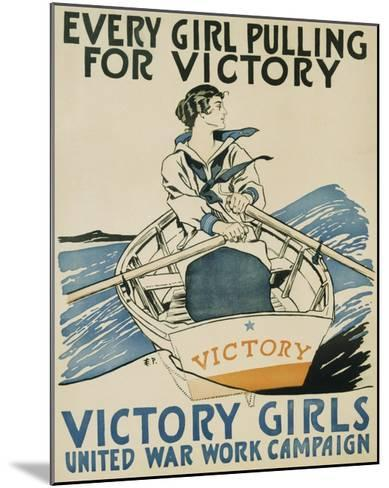 Every Girl Pulling for Victory-Edward Penfield-Mounted Giclee Print