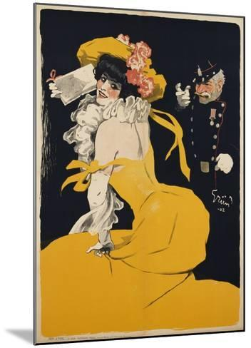 Poster of a Woman in a Yellow Dress by Jules Alexandre Grun--Mounted Giclee Print