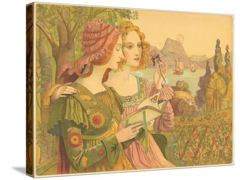 Golden Legend-Armand Point-Stretched Canvas Print