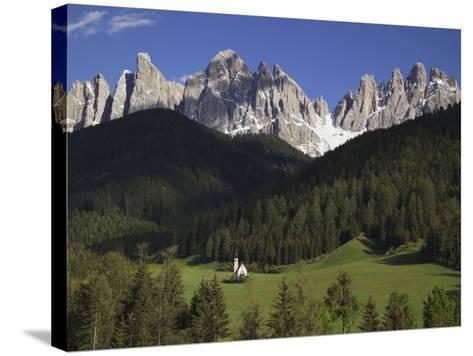 St. Giovanni Church in Val di Funes-Richard Klune-Stretched Canvas Print