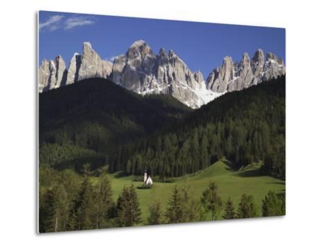 St. Giovanni Church in Val di Funes-Richard Klune-Metal Print