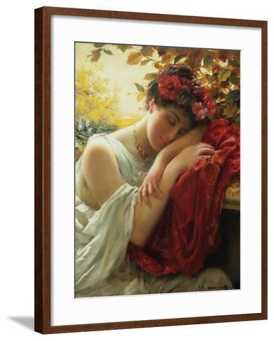 Autumn-Thomas Benjamin Kennington-Framed Art Print