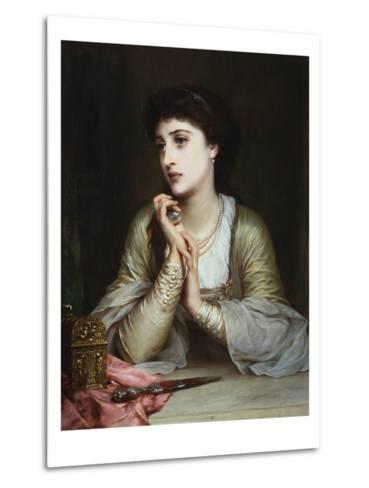 Juliet's Last Thoughts-Frank Bernard Dicksee-Metal Print