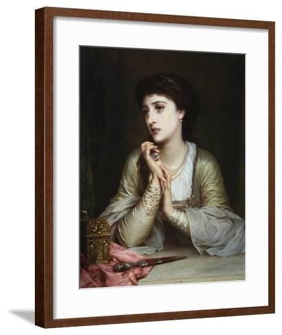 Juliet's Last Thoughts-Frank Bernard Dicksee-Framed Art Print