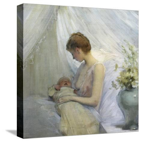 Young Woman and Baby-Jules Jean Geoffroy-Stretched Canvas Print