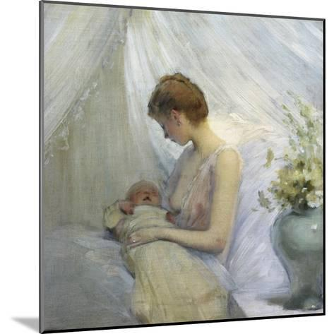 Young Woman and Baby-Jules Jean Geoffroy-Mounted Giclee Print