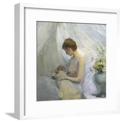 Young Woman and Baby-Jules Jean Geoffroy-Framed Art Print