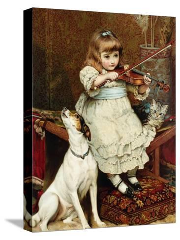 The Broken String-Charles Burton Barber-Stretched Canvas Print