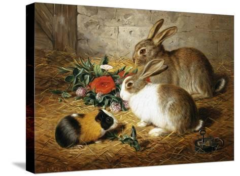 Good Friends-Alfred Barber-Stretched Canvas Print