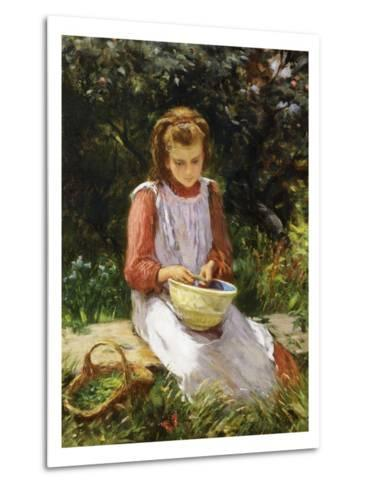 Shelling Peas-William Banks Fortescue-Metal Print