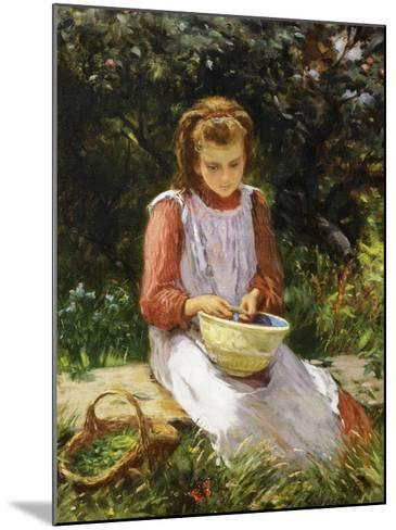 Shelling Peas-William Banks Fortescue-Mounted Giclee Print