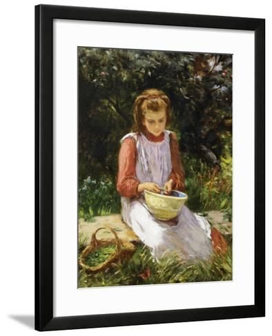 Shelling Peas-William Banks Fortescue-Framed Art Print