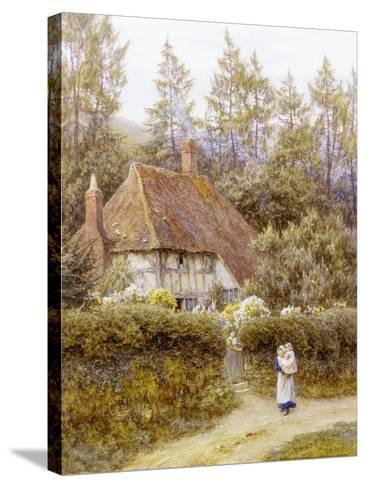 Pine Tree Cottage-Helen Allingham-Stretched Canvas Print