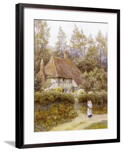 Pine Tree Cottage-Helen Allingham-Framed Art Print