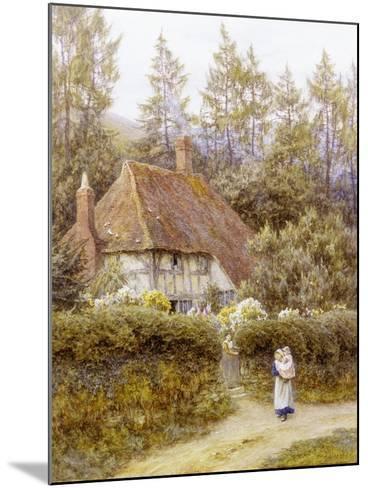 Pine Tree Cottage-Helen Allingham-Mounted Giclee Print