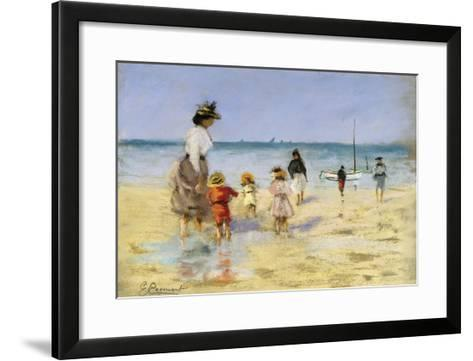 Going for a Paddle-Emile Cagniart-Framed Art Print