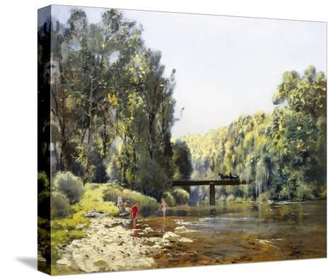 A Summer's Day on the River-Emile Cagniart-Stretched Canvas Print