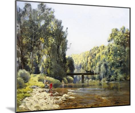 A Summer's Day on the River-Emile Cagniart-Mounted Giclee Print