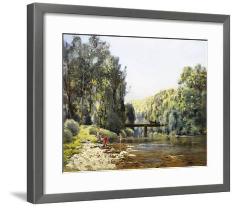 A Summer's Day on the River-Emile Cagniart-Framed Art Print
