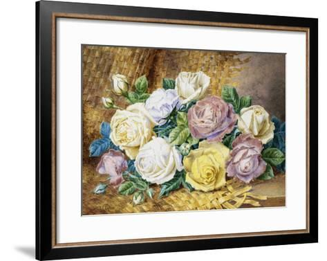 A Still Life of Roses-Thomas Frederick Collier-Framed Art Print