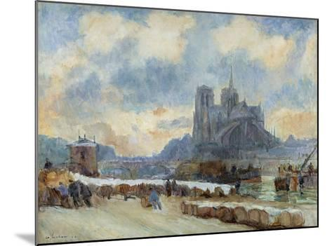 Notre Dame, Paris-Albert Lebourg-Mounted Giclee Print