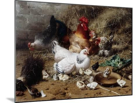 A Family of Chickens-Eugene Remy Maes-Mounted Giclee Print