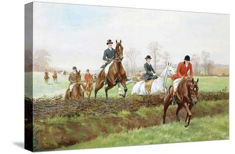 The Hunt-George Derville Rowlandson-Stretched Canvas Print