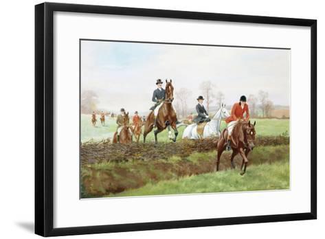 The Hunt-George Derville Rowlandson-Framed Art Print