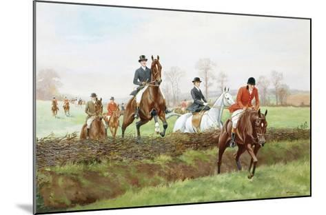 The Hunt-George Derville Rowlandson-Mounted Giclee Print