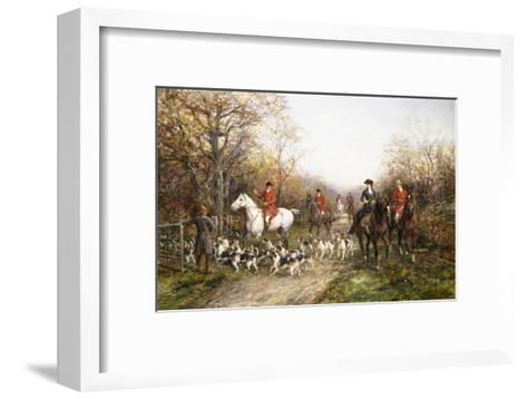 Going Through the Copse-Heywood Hardy-Framed Art Print