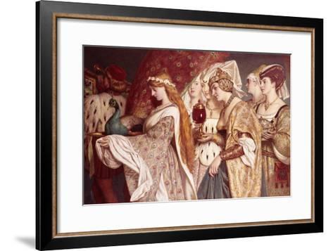 Carrying the Peacock-John Dawson Watson-Framed Art Print