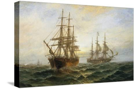 A Frigate Outward Bound Off Shoeburyness-Claude T^ Stanfield Moore-Stretched Canvas Print