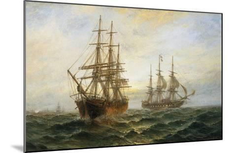 A Frigate Outward Bound Off Shoeburyness-Claude T^ Stanfield Moore-Mounted Giclee Print