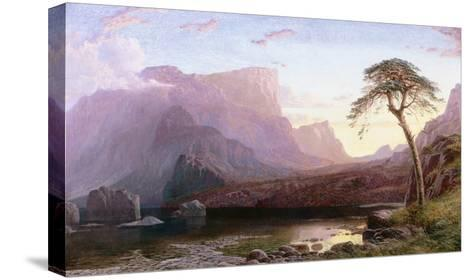 A View of Hornelen Fjord, Norway-Charles Pettitt-Stretched Canvas Print