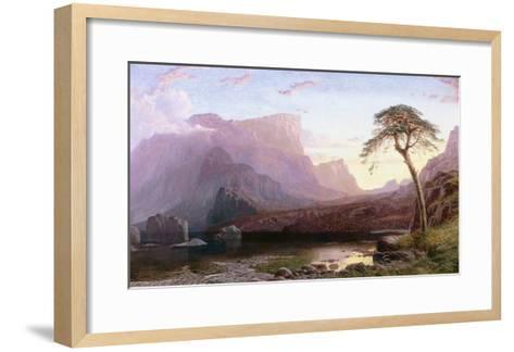 A View of Hornelen Fjord, Norway-Charles Pettitt-Framed Art Print