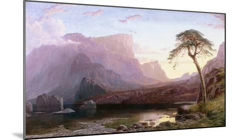 A View of Hornelen Fjord, Norway-Charles Pettitt-Mounted Giclee Print