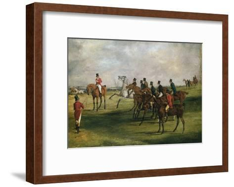 At the Start-Henry Thomas Alken-Framed Art Print