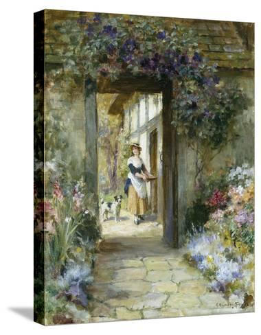 Through the Garden Door-George Sheridan Knowles-Stretched Canvas Print