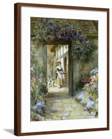 Through the Garden Door-George Sheridan Knowles-Framed Art Print