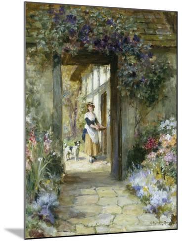 Through the Garden Door-George Sheridan Knowles-Mounted Giclee Print