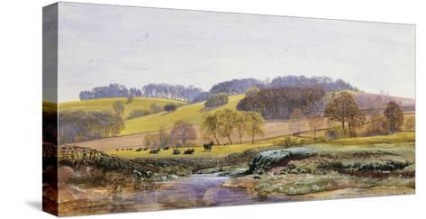 Springtime near Marden, Surrey, England-John Brett-Stretched Canvas Print