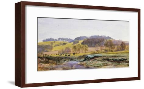 Springtime near Marden, Surrey, England-John Brett-Framed Art Print