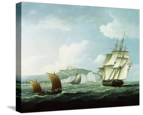 Shipping off Dover Castle, England-Thomas Buttersworth-Stretched Canvas Print