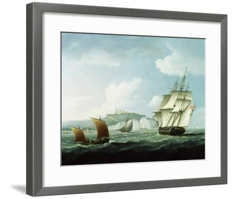 Shipping off Dover Castle, England-Thomas Buttersworth-Framed Art Print