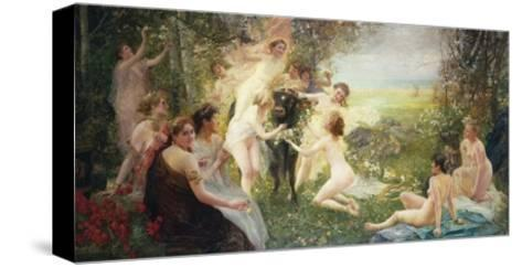 The Rape of Europa-Edouard Veith-Stretched Canvas Print