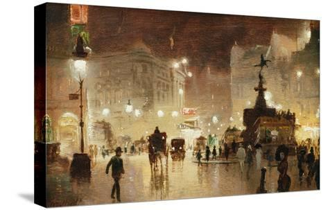 Piccadilly Circus, London-George Hyde-Pownall-Stretched Canvas Print