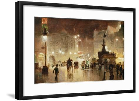 Piccadilly Circus, London-George Hyde-Pownall-Framed Art Print